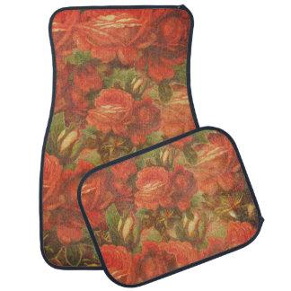 Beautiful Vintage Roses Gunge Car Mat