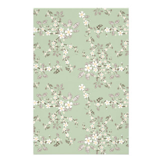 Beautiful vintage tree blossom white flowers stationery