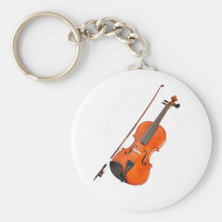 Beautiful Viola Musical Instrument Basic Round Button Key Ring