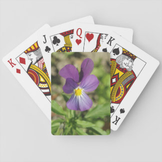 Beautiful violet flower photo playing cards