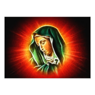 Beautiful Virgin Mary Portrait Personalized Announcements