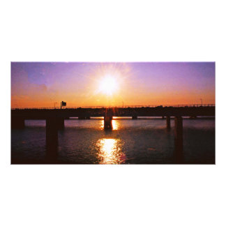Beautiful Virginia Sunset Personalized Photo Card