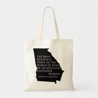 BEAUTIFUL VOICE - GEORGIA SOUTHERN WOMAN TOTE BAG