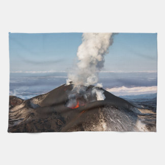 Beautiful volcanic landscape: crater volcano tea towel