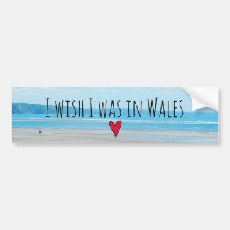 Beautiful Wales Sea Beach Landscape Aberdovey Bumper Sticker