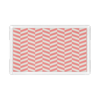 Beautiful warm pink beige zigzag geometric pattern