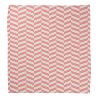 Beautiful warm pink beige zigzag geometric pattern do-rag