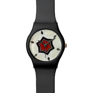 Beautiful watch with flower