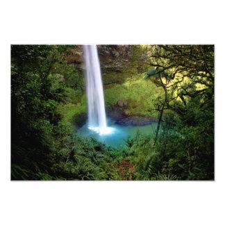 Beautiful Water Fall Photo Art