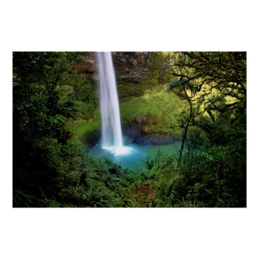 Beautiful Water Fall Posters