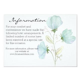 Beautiful Watercolor Floral wedding information 13 Cm X 18 Cm Invitation Card