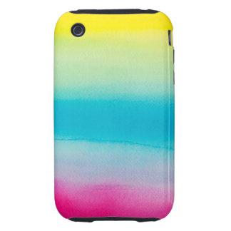 Beautiful Watercolor Rainbow Tough iPhone 3 Cases