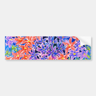 Beautiful Watercolour Floral Bumper Stickers