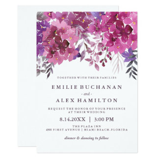 Beautiful Watercolour Hydrangeas and Botanicals Card