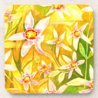 Beautiful Watercolour Lily Coasters Set of 6