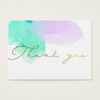 ★ Beautiful Watercolour Thank you Business Card