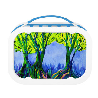Beautiful Watercolour Woodland Landscape Lunch Box