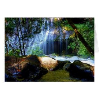 Beautiful Waterfall Jungle Landscape Card