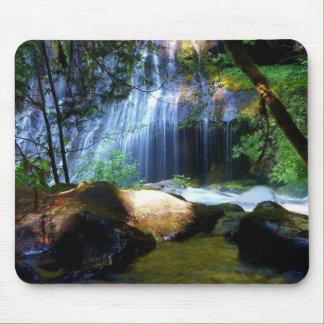 Beautiful Waterfall Jungle Landscape Mousepads