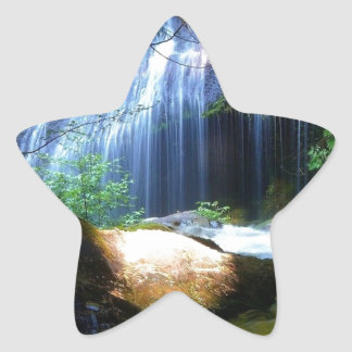 Beautiful Waterfall Jungle Landscape Star Sticker