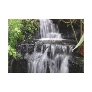 Beautiful Waterfall Scene Canvas Print