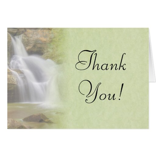 Beautiful Thank You Cards Amusing With Beautiful Waterfall Thank You Card | Zazzle Picture
