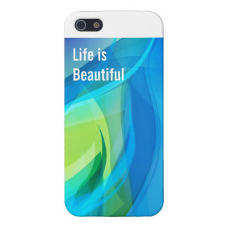 Beautiful Wave Iphone 5 Case, Life is Beautiful Case For iPhone 5/5S