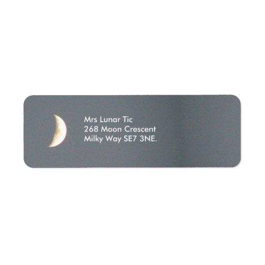 Beautiful Waxing Crescent Moon at Dusk Custom Return Address Label