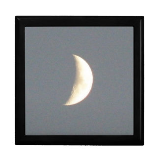 Beautiful Waxing Crescent Moon at Dusk Gift Box