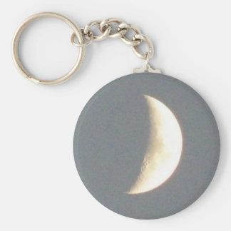 Beautiful Waxing Crescent Moon at Dusk Keychain