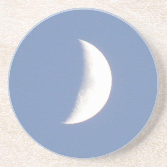 Beautiful Waxing Crescent Moon in Daylight Coaster