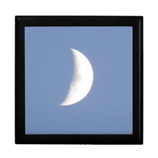 Beautiful Waxing Crescent Moon in Daylight Gift Bo Gift Box