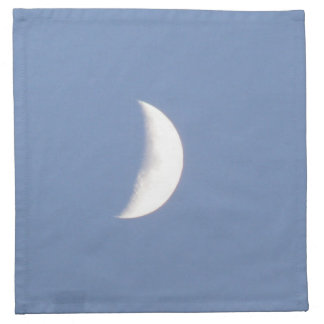 Beautiful Waxing Crescent Moon in Daylight Napkin