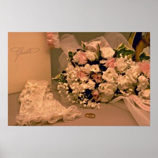 Beautiful Wedding bouquet Print