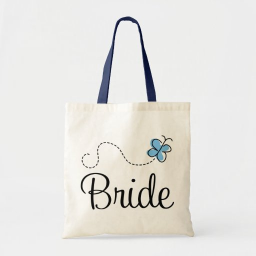 Beautiful Wedding Day Bride Blue Tote Bag