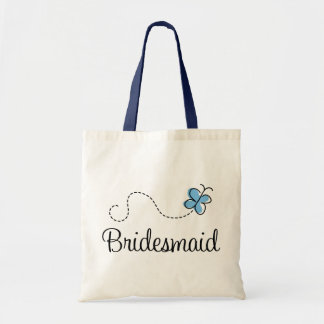 Beautiful Wedding Day Bridesmaid Blue Tote Bag