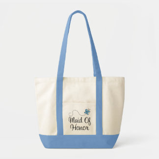 Beautiful Wedding Day Maid Of Honor Blue Tote Bag