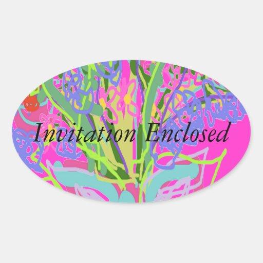 Beautiful Wedding Designs Oval Sticker