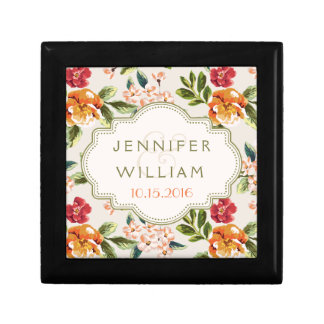 Beautiful Wedding Gift Elegant Chic Vintage Floral Gift Box