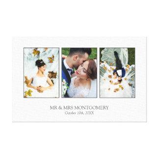 Beautiful Wedding Photo Collage Canvas Print
