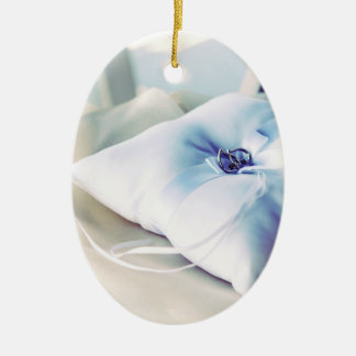 Beautiful Wedding Ring Pillow Christmas Ornament