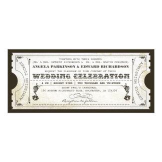 beautiful wedding vintage ticket invitations