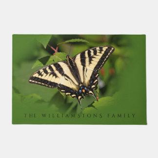 Beautiful Western Tiger Swallowtail Butterfly Doormat