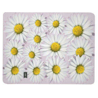 Beautiful White and Yellow Daisy Journal