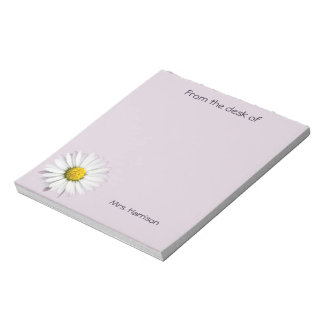 Beautiful White and Yellow Daisy Notepad