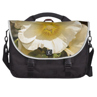 Beautiful white and yellow flower laptop messenger bag