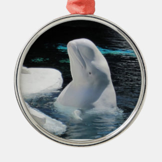 Beautiful White Beluga Whale Christmas Ornament