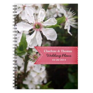 Beautiful White Blossom Wedding Notebooks