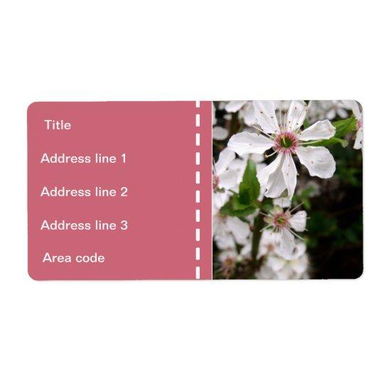 Beautiful White Blossom Wedding Shipping Label