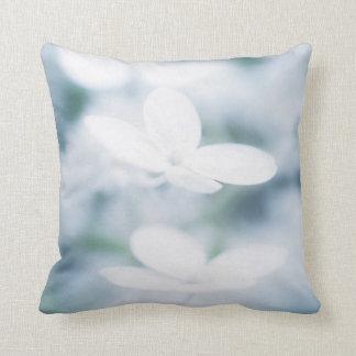 Beautiful white blossoms cushion